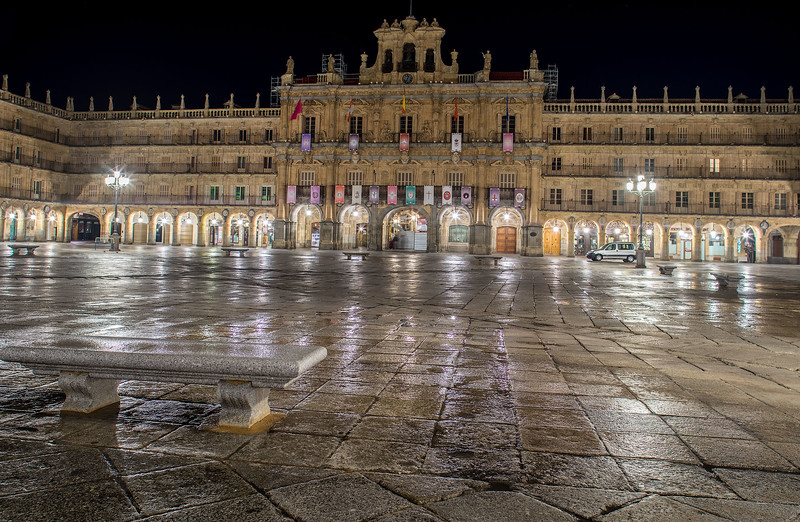 Plaza Mayor at dawn