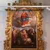 Giovan Battista Urbinelli<br /> (notizie dal 1641 al 1664)<br /> La Madonna in gloria con i santi Marino, Antonio da Padova, Francesco e Chiara