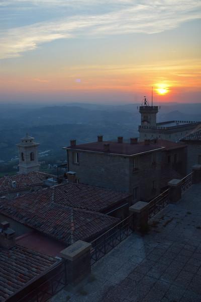 San Marino sunset views