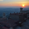San Marino sunset views