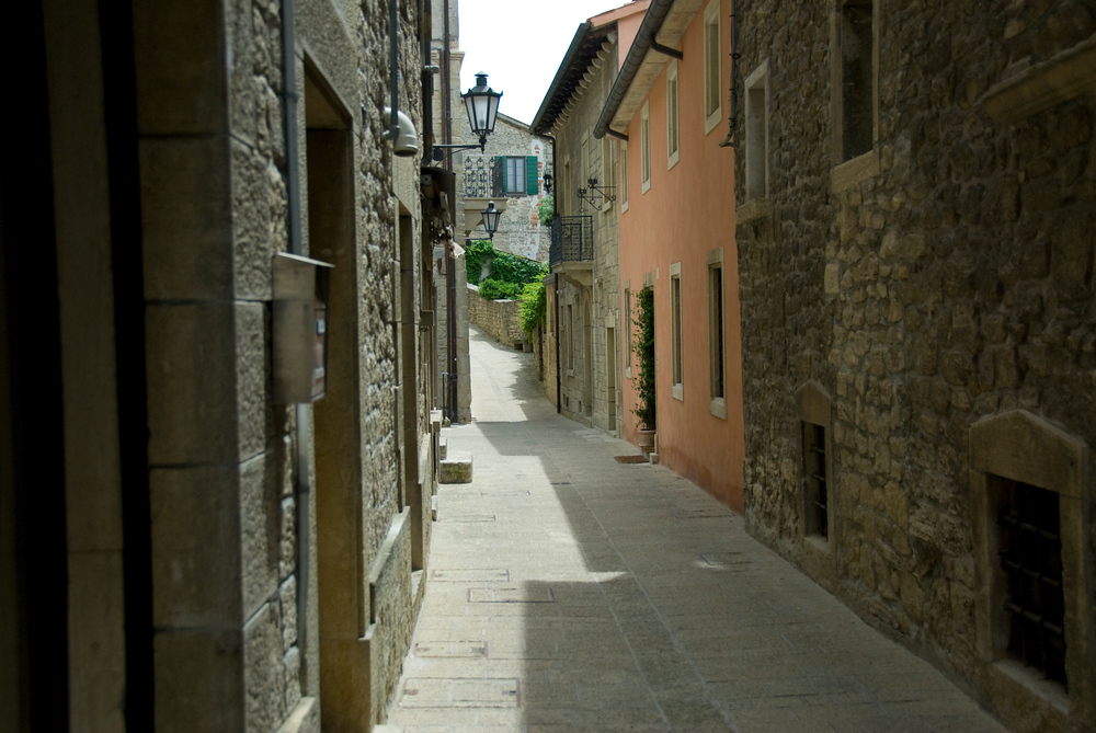 Side street in the Most Serene Republic of San Marino