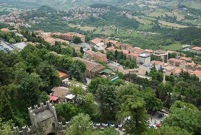 Overlooking view of San Marino