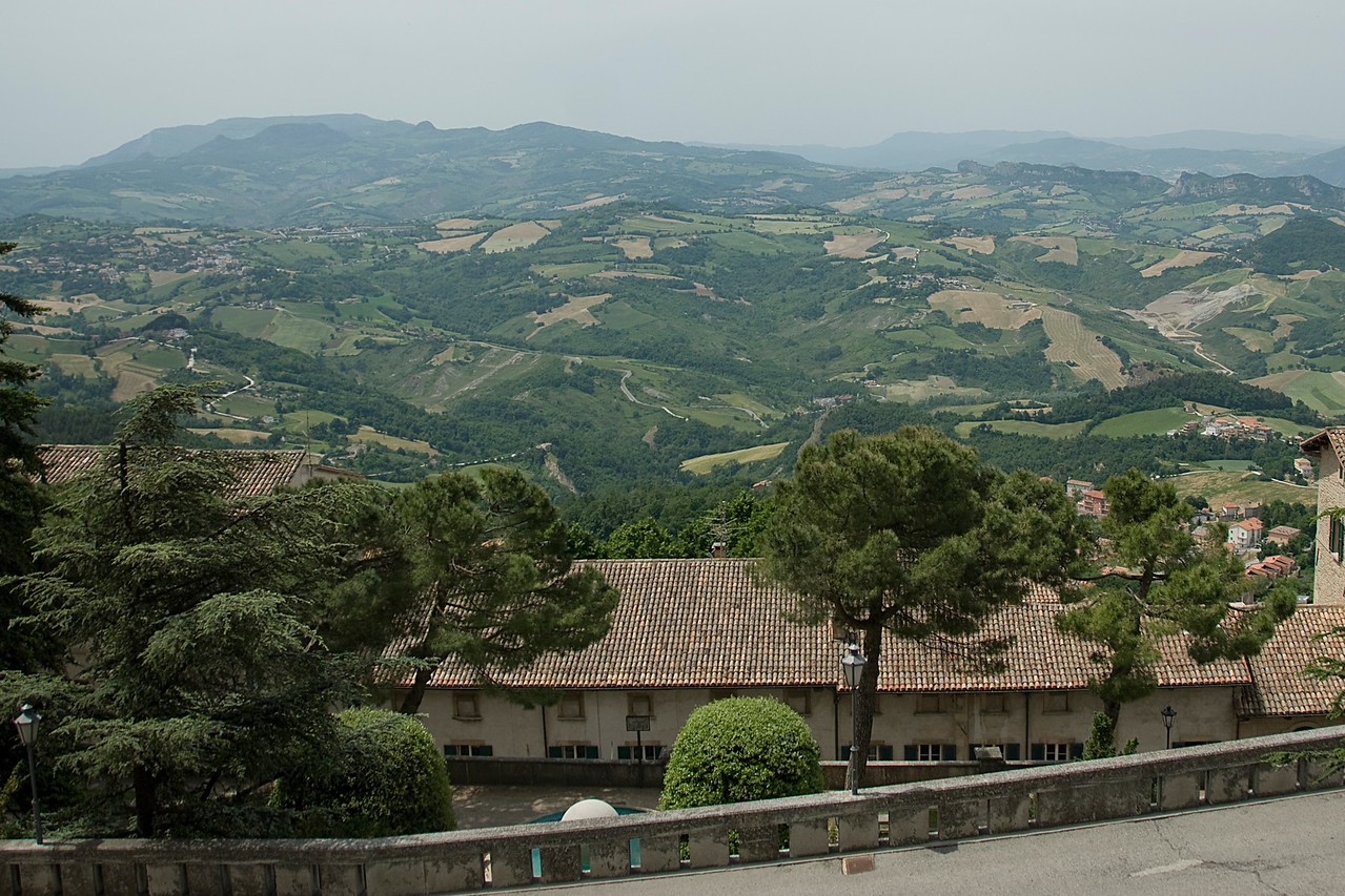 Overlooking view from the Prima Torre in San Marino