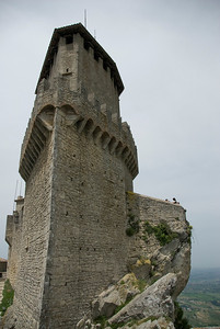 Profile of the Guaita Castle in San Marino
