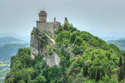 The Guaita Castle in San Marino