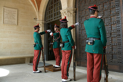 Guards lined up Palazzo del Governo di San Marino