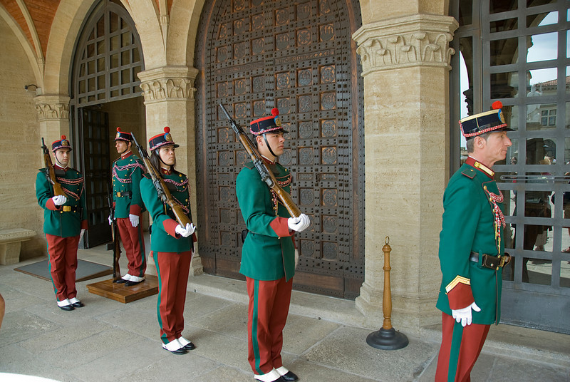 Guards outside Palazzo del Governo di San Marino