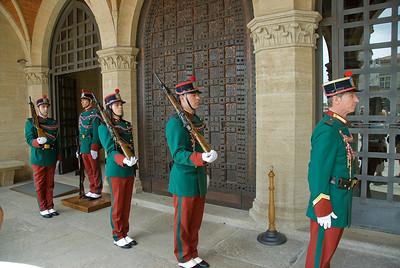 Guards outside Palazzo del Governo di San Marino