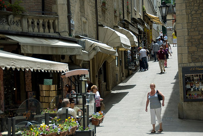 Street scene in Republic of San Marino