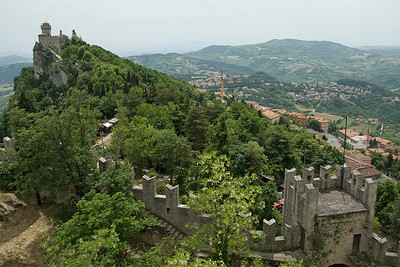 Guaita Castle and surrounding buildings in San Marino