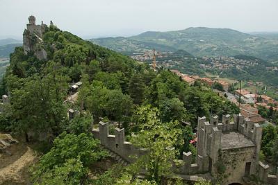 Guaita Castle and surrounding buildings in San Marino