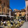 Stopping for lunch in the town of Maddalena