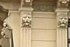 Lion decorations on pilasters