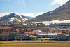 Brightly painted company houses in Longyearbyen