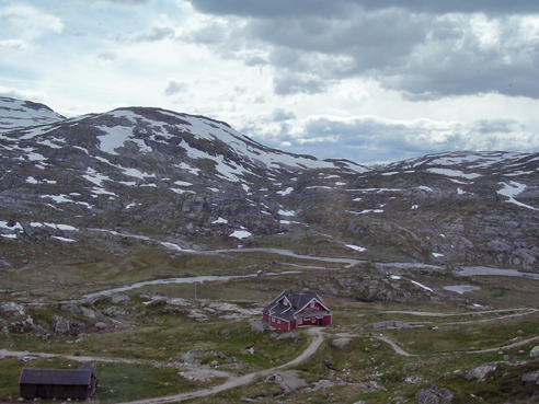 The view from the train to Bergen.