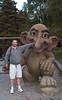 Marc and the troll, Mount Fløyen, Bergen Norway