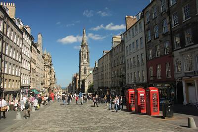 The Royal Mile - Edinburgh Runs from the entrance of Edinburgh Castle to the gates of Holyrood Palace.