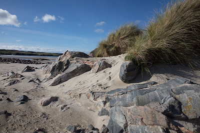 Unlike most beaches in the US the beaches in Scotland are often rocky
