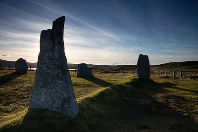 The Calanais standing stones are believed to be 4000 or more years old.  It is unclear what those who placed them had in mind