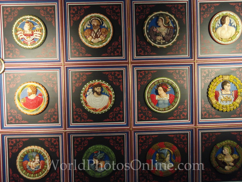 Stirling - Stirling Castle - Palace - The King's Lodging - Ceiling