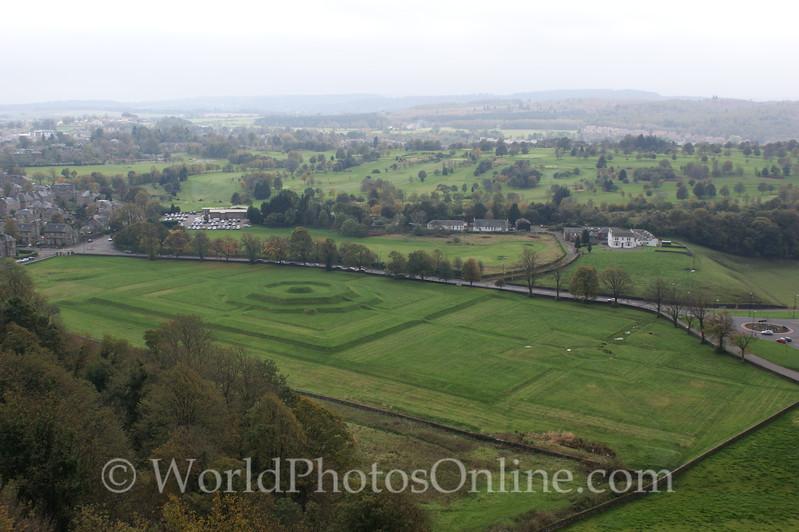 Stirling - Stirling Castle - King's Knot & Parterre of Royal Garden