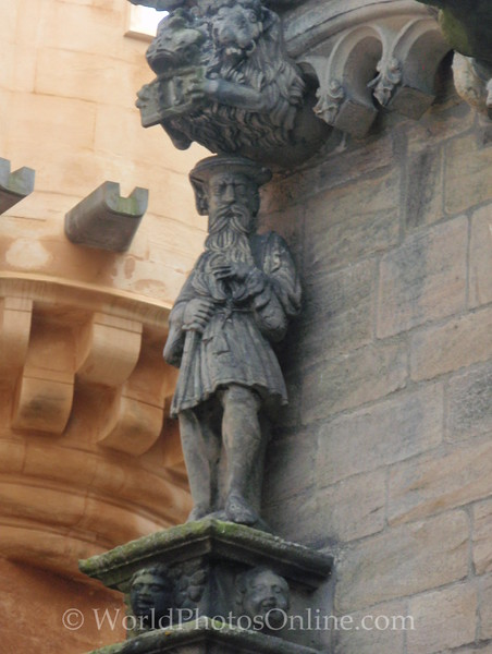 Stirling - Stirling Castle - Palace - James V Sculpture
