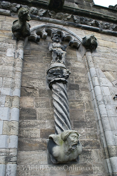Stirling - Stirling Castle - Palace - Prince's Wall - Sculptures