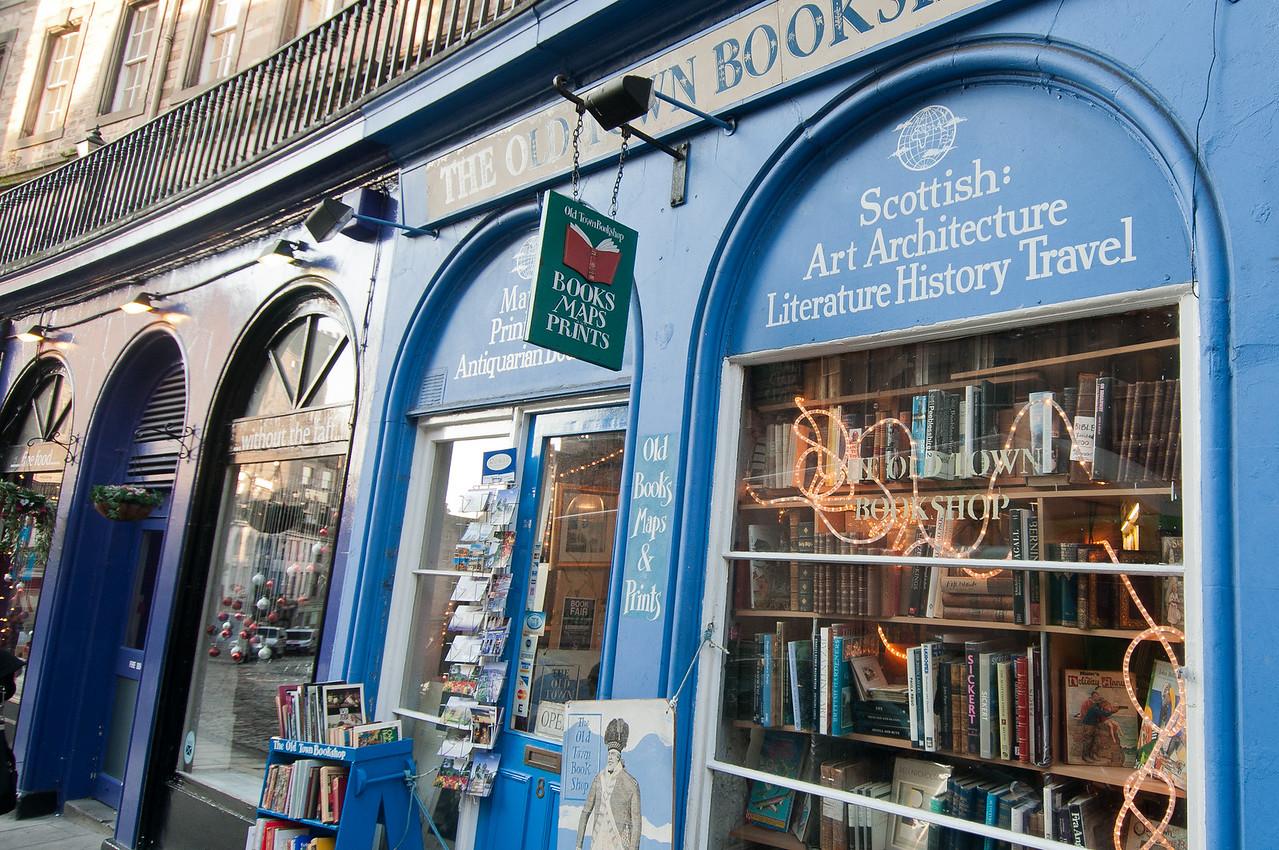 A book shop in Edinburgh, Scotland