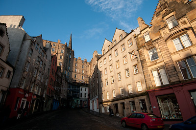 Quiet street in Edinburgh, Scotland