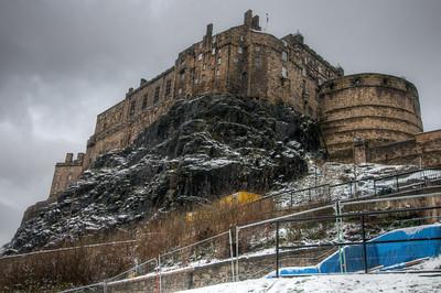 Isolated shot of the Edinburgh Castle in Edinburgh, Scotland
