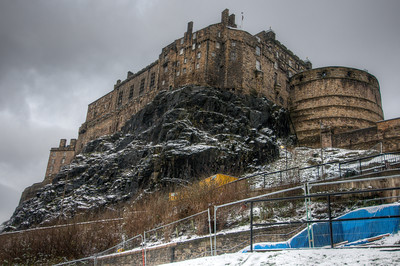 Isolated shot of the Edinburgh Castle in Edinburgh, Scotland