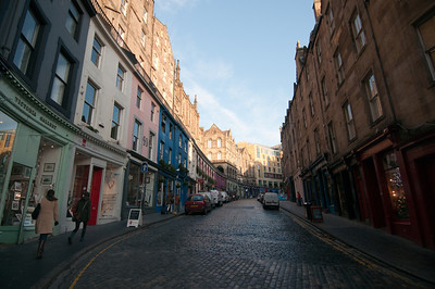 Street scene in Edinburgh, Scotland