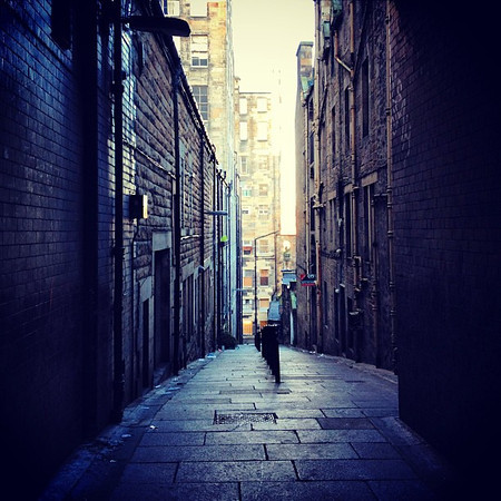 "One of the open ""closes"" (private alleyways) off High Street #Edinburgh #blogmanay"