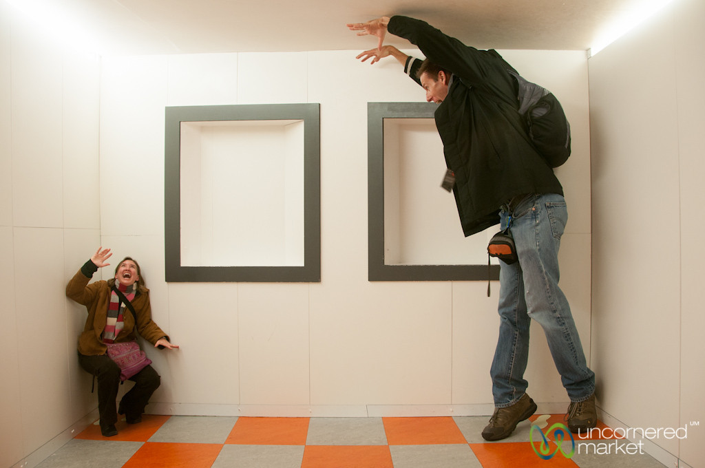 Silly Fun at Camera Obscura - Edinburgh, Scotland