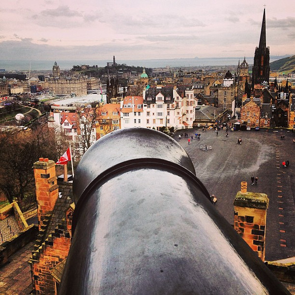 When aiming the cannon at the enemy, be sure to arc it. #Edinburgh #blogmanay