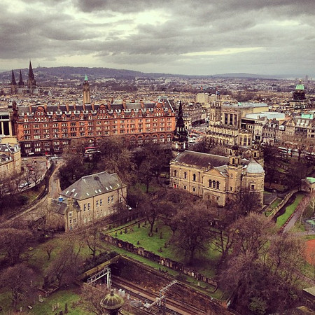 #Edinburgh, a spiffy view from the castle western wall. #blogmanay