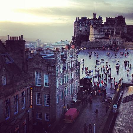 Mystical and shrouded,  #Edinburgh Castle #blogmanay