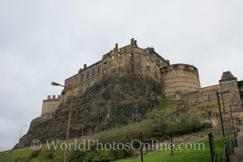 Edinburgh Castle from Grass Market Square