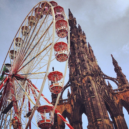 Old and new, #Edinburgh Winter Wonderland and Scott Monument #blogmanay