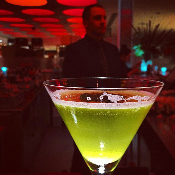 I'm not a big cocktail photographer, but this green  tea Matcha  with Daniel Craig look alike bartender fit. #Edinburgh #blogmanay