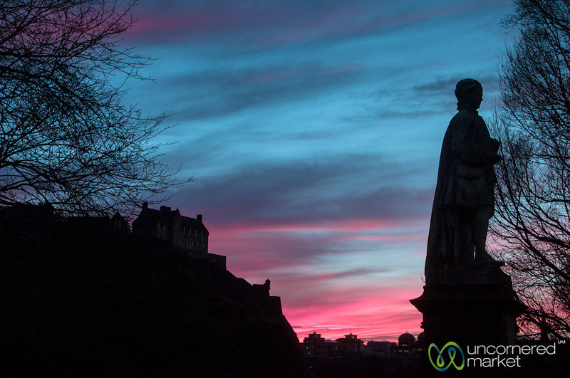 Edinburgh Pink Sky at Sunset