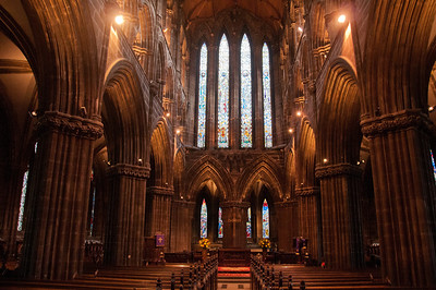 The aisle and altar in Glasgow Cathedral - Glasgow, Scotland