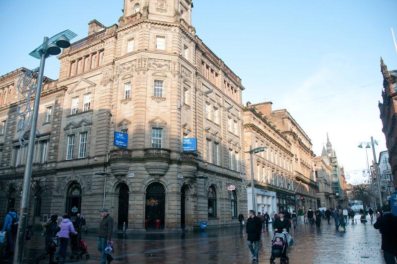 Street scene in Glasgow, Scotland