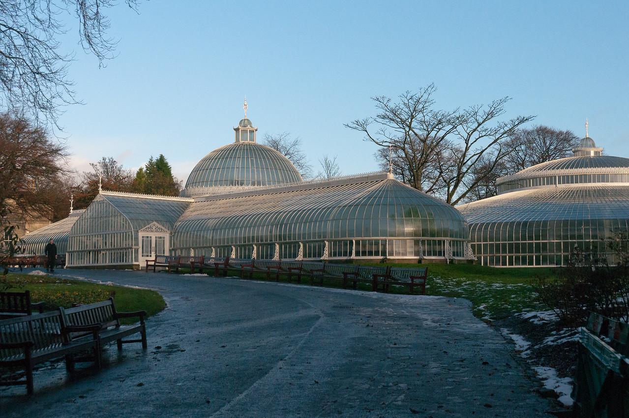 Outside the Glasgow Botanic Gardens in Glasgow, Scotland
