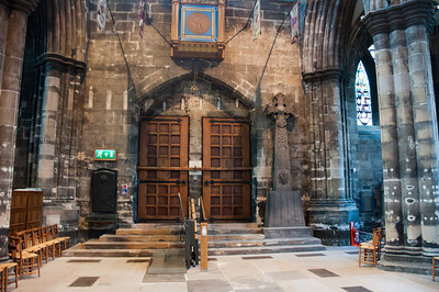 Inside the Glasgow Cathedral in Glasgow, Scotland