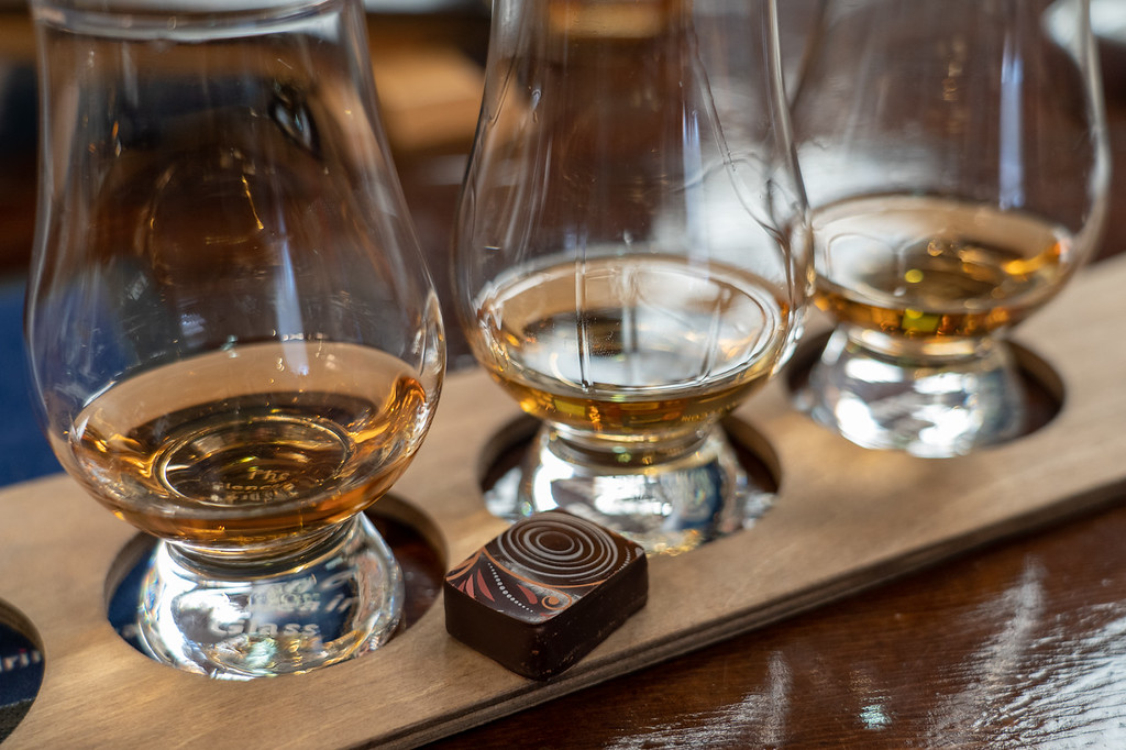 Glen Moray whisky and chocolate tasting