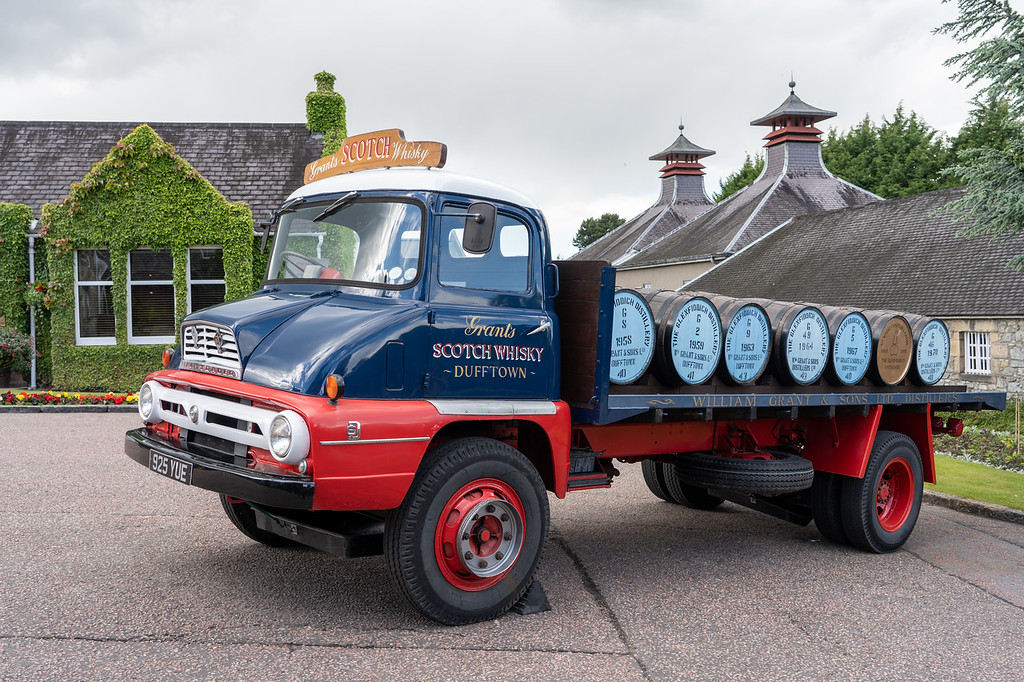 Old delivery truck at Glenfiddich
