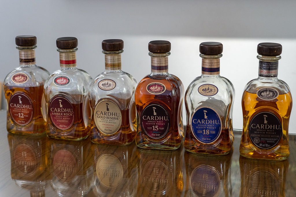 Bottles of Cardhu whisky