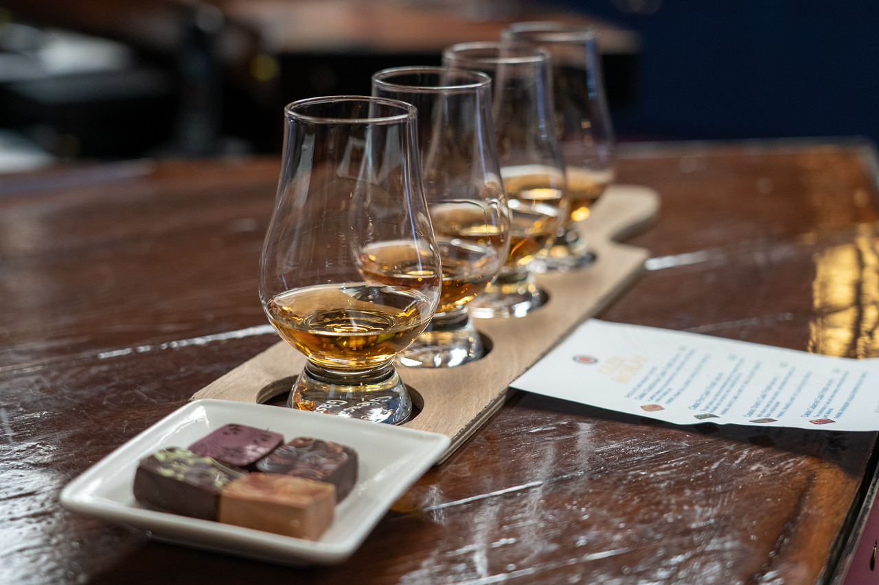 Chocolate and whisky pairing at Glen Moray