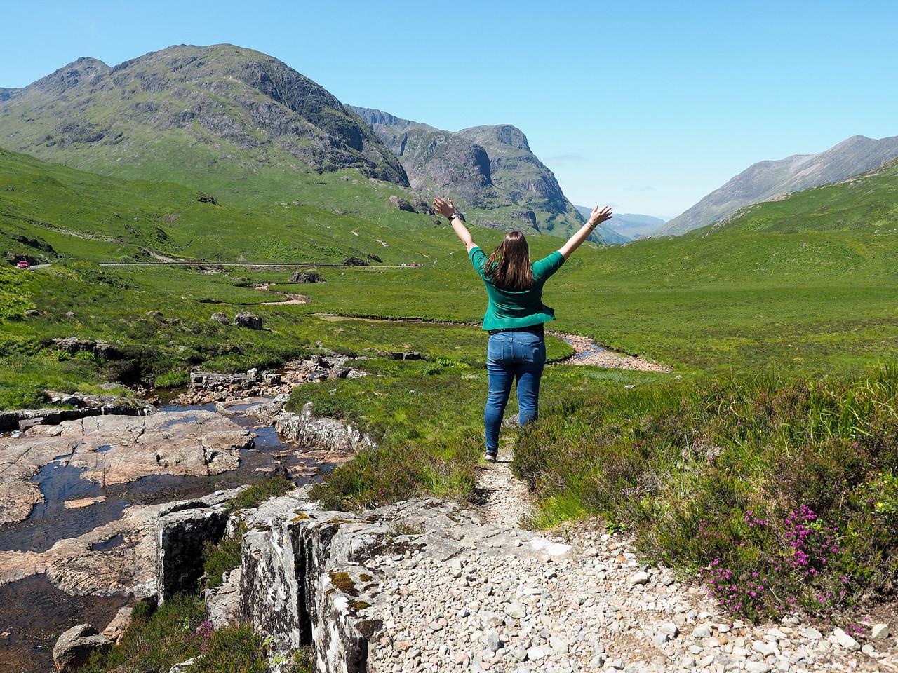 Amanda in the Scottish Highlands